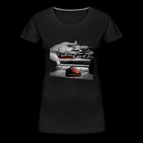 sko - Premium-T-shirt dam