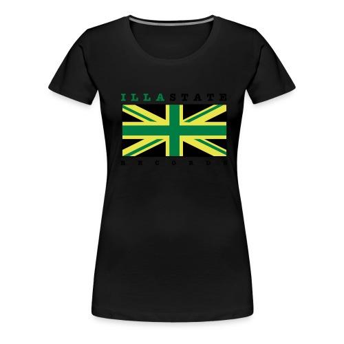 illastate logo 3spots whitetee - Women's Premium T-Shirt
