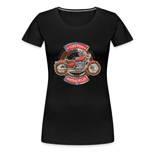 Custom Motorcycles - Camiseta premium mujer