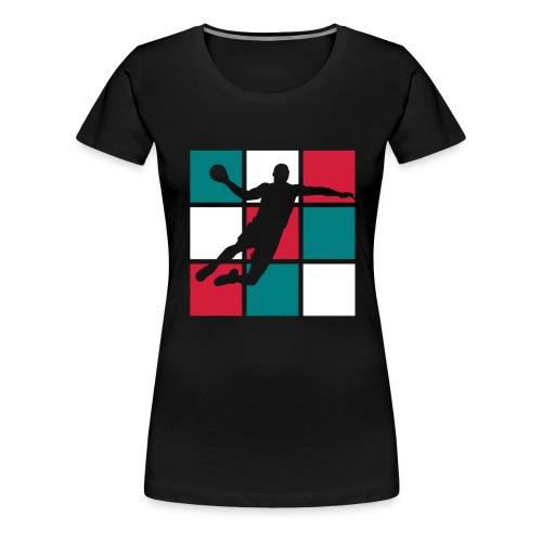 handball damier 3 couleurs - T-shirt Premium Femme