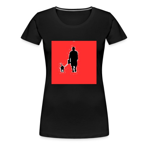 Silhouette Man Walking Dog - Maglietta Premium da donna