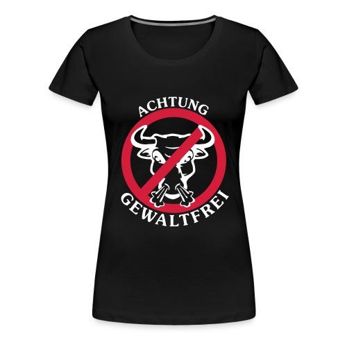 Achtung Gewaltfrei - Frauen Premium T-Shirt