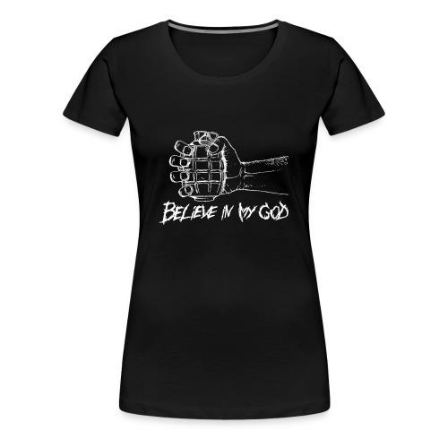 wiara biały - Koszulka damska Premium
