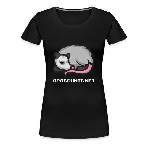OpossumTS-Logo mit Schrift (WEiß) - Frauen Premium T-Shirt