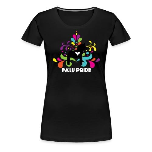 Logo med vit text - Premium-T-shirt dam