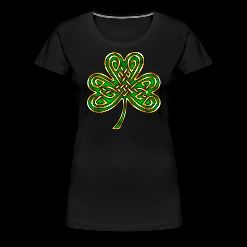 Celtic Knotwork Shamrock - Women's Premium T-Shirt