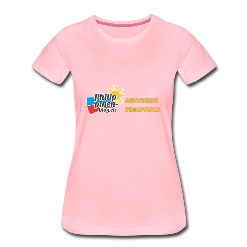 Philippinen-Blog Logo deutsch schwarz/orange - Frauen Premium T-Shirt