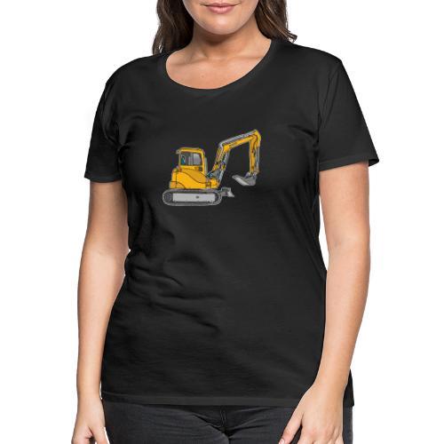 BAGGER, gelbe Baumaschine mit Schaufel und Ketten - Frauen Premium T-Shirt