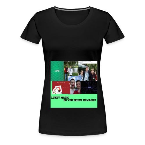 lukey magic collage jpg - Women's Premium T-Shirt