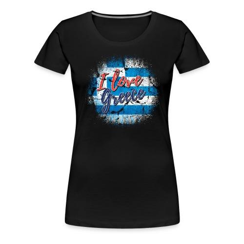 AND LOVE GREECE - Women's Premium T-Shirt