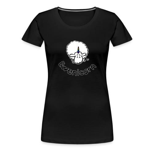 Ewenicorn (schwarze Ausgabe schwarzer Text) - Frauen Premium T-Shirt