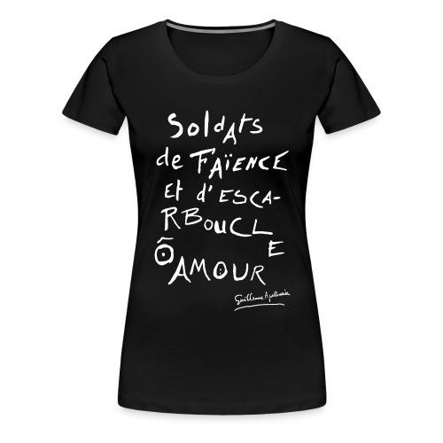 Calligramme - Soldat de faillance - T-shirt Premium Femme