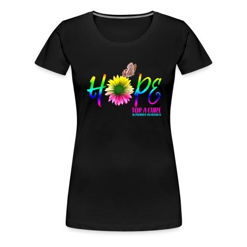 Hope For A Cure Alzheimer Awareness - Women's Premium T-Shirt