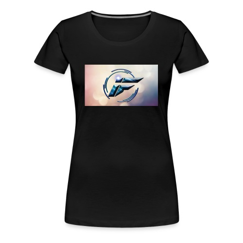 Logo and background - Women's Premium T-Shirt