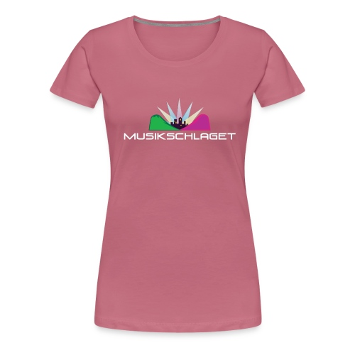 Musikschlagetlogga_vitsv_ - Premium-T-shirt dam
