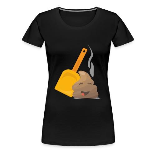 Funny Poop Emoji - Women's Premium T-Shirt