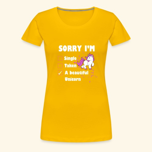 lustiges Beziehung Einhorn T-Shirt - Frauen Premium T-Shirt