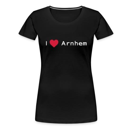 I love Arnhem wit - Vrouwen Premium T-shirt