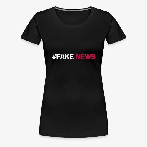 FAKE NEWS PILOT rot weiss png - Frauen Premium T-Shirt
