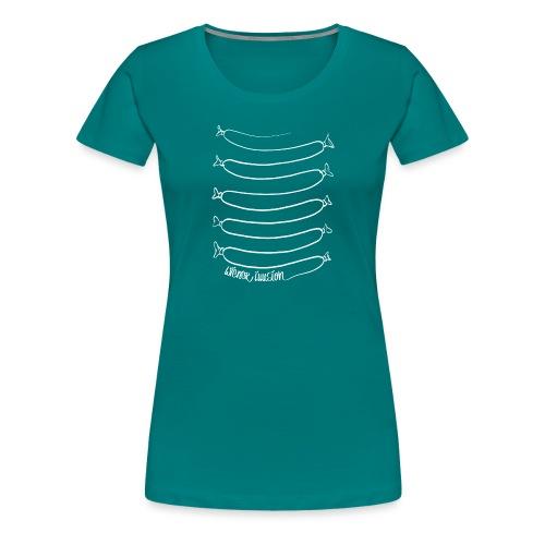 Wiener Illusion (weiß auf schwarz) - Frauen Premium T-Shirt