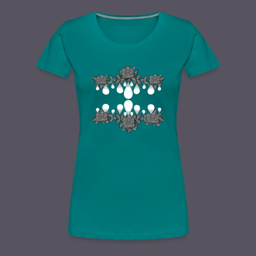 Rosengirlande - Frauen Premium T-Shirt