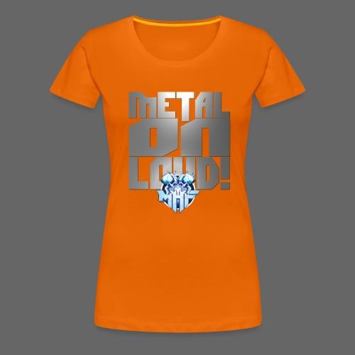 metalonloud large 4k png - Women's Premium T-Shirt