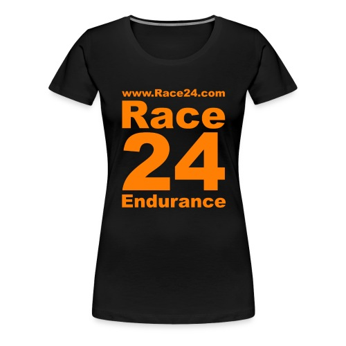 Race24 Logo in Orange - Women's Premium T-Shirt