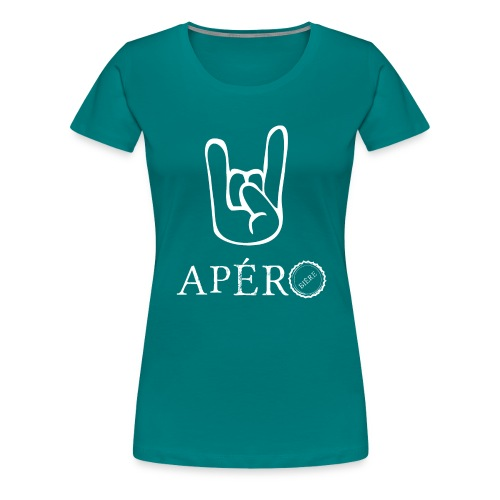 rock and apéro - T-shirt Premium Femme