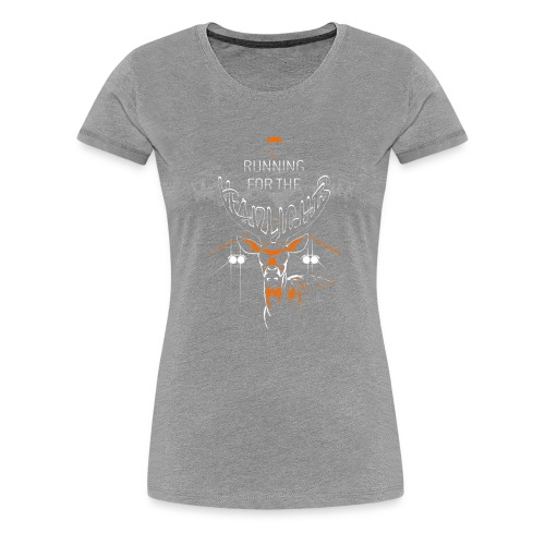 Running For The Headlights - Dame premium T-shirt