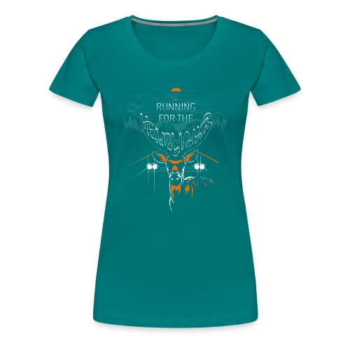 running for the headlights png - Dame premium T-shirt