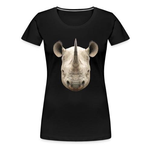LowPoly Rhino - Premium-T-shirt dam