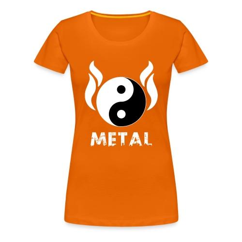 YIN YANG METAL - Frauen Premium T-Shirt