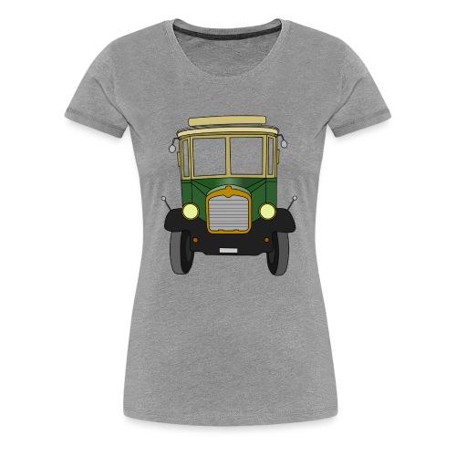 Oldtimer Ansicht von vorne (schwarz) - Frauen Premium T-Shirt