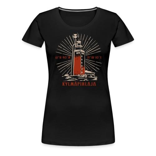 KYLMÄPIHJALAN MAJAKKA tekstiilit ja lahjatuotteet. - Naisten premium t-paita