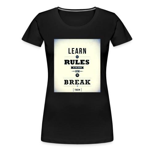 RULES - Vrouwen Premium T-shirt