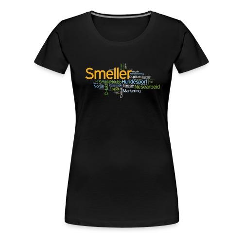 smeller skjorte variant 5 v001 png - Premium T-skjorte for kvinner