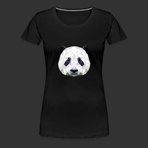 Panda Low Poly - T-shirt Premium Femme
