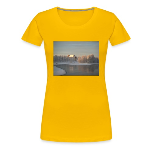 Talvinen Joensuu - Naisten premium t-paita