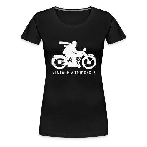 vintage motorcycle - Frauen Premium T-Shirt