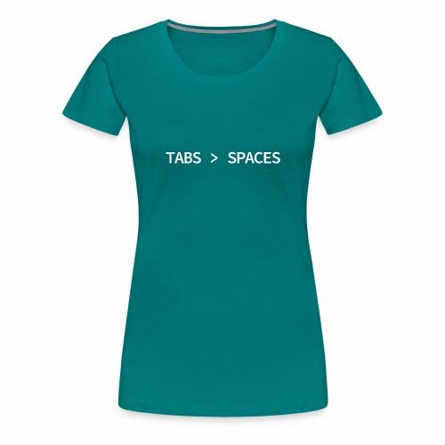 Tabs vs Spaces - Programmer's Tee - Women's Premium T-Shirt