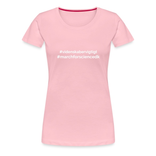March for Science Danmark - Women's Premium T-Shirt