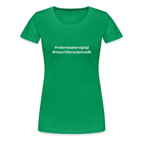 March for Science Danmark - Women's Premium T-Shirt