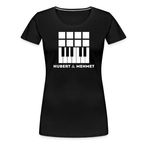 Hubert Mehmet Logo White gif - Frauen Premium T-Shirt