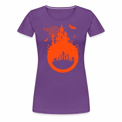Halloween Design - Das Spukhaus - Frauen Premium T-Shirt