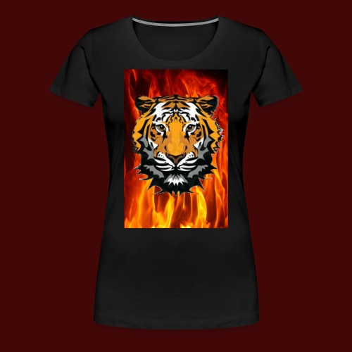 Fire Tiger - Women's Premium T-Shirt