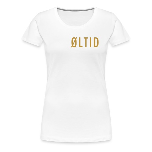 øltid side - Premium T-skjorte for kvinner