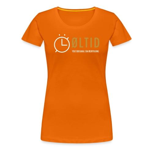 øltid side - Premium T-skjorte for kvinner