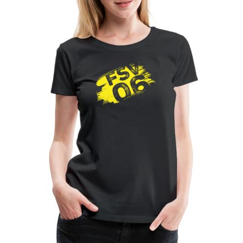 Hildburghausen FSV 06 Graffiti gelb - Frauen Premium T-Shirt