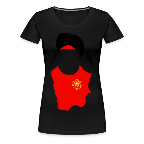 fat sikh red - Women's Premium T-Shirt