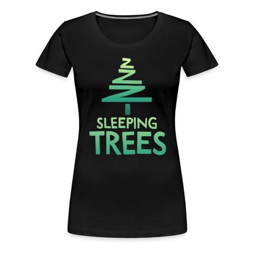 SleepingTrees Colour DarkBackground png - Women's Premium T-Shirt